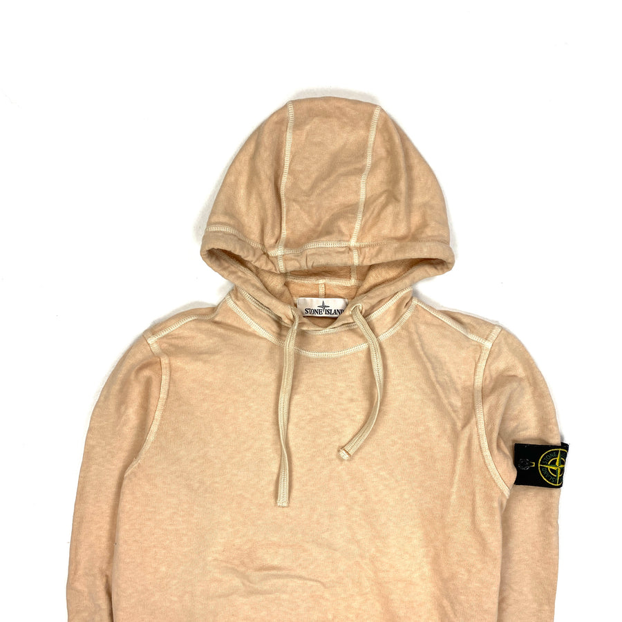Stone Island 2018 Peach Cotton Pullover Hoodie