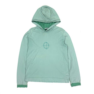 STONE ISLAND PASTEL GREEN COTTON PULLOVER HOODIE