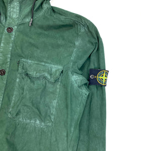 Stone Island Forest Green Hooded Overshirt