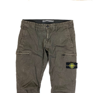 Stone Island Khaki Brown Skinny Fit Cargo Trousers
