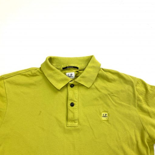CP COMPANY LIME GREEN SHORT SLEEVE POLO SHIRT