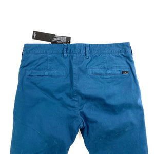 STONE ISLAND BLUE SLIM FIT THICK COTTON TROUSERS