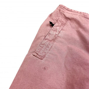 STONE ISLAND ROSE QUARTZ COTTON CARGO STYLE TROUSERS