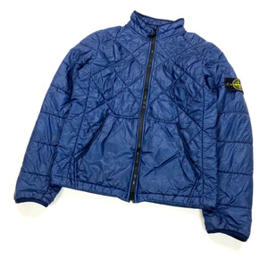 Stone Island Navy Micro Yarn Quilted Jacket