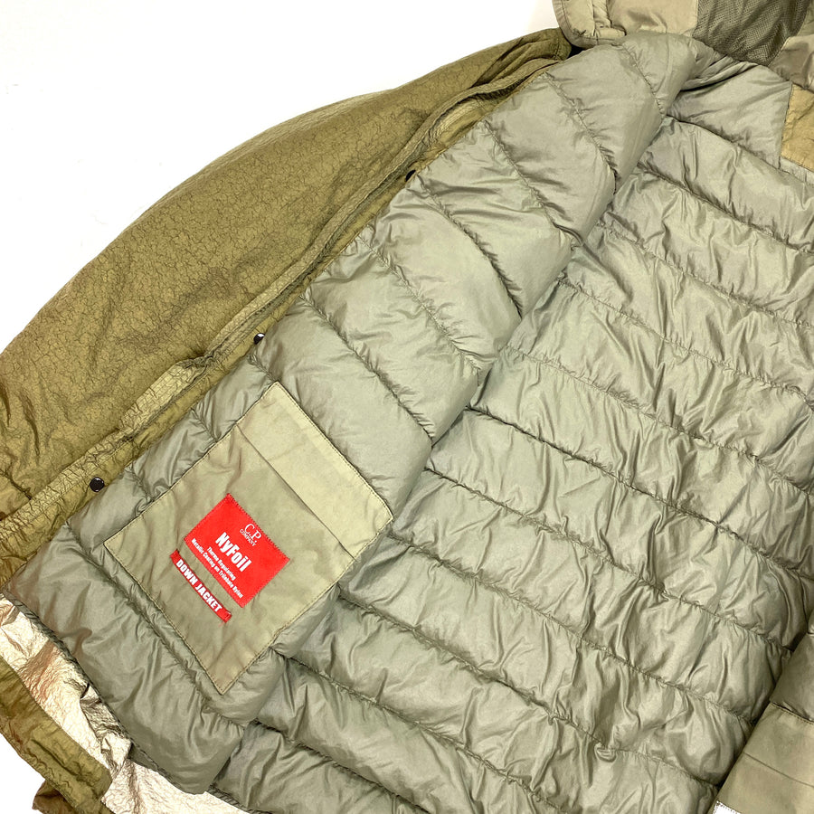 CP Company Khaki Green Down Filled Nyfoil Fishtail Parka