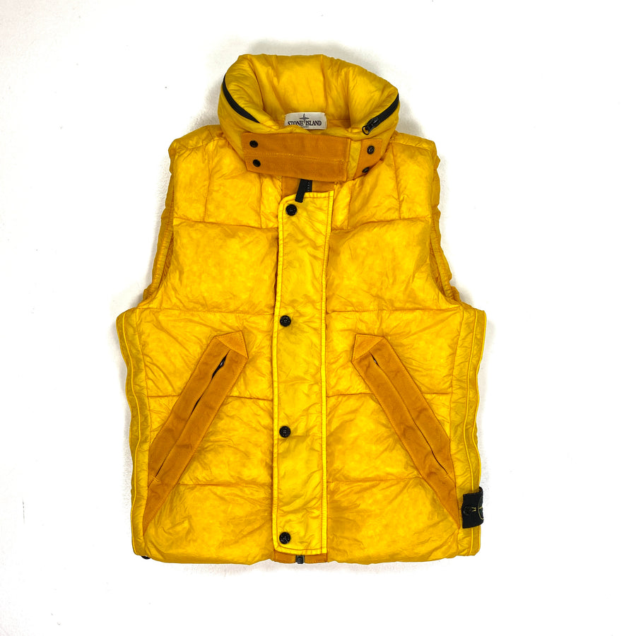 Stone Island 30th Anniversary Yellow Down Filled Body Warmer