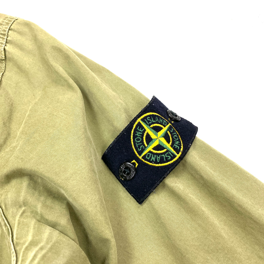 Stone Island Olive Green Cotton Zipped Overshirt