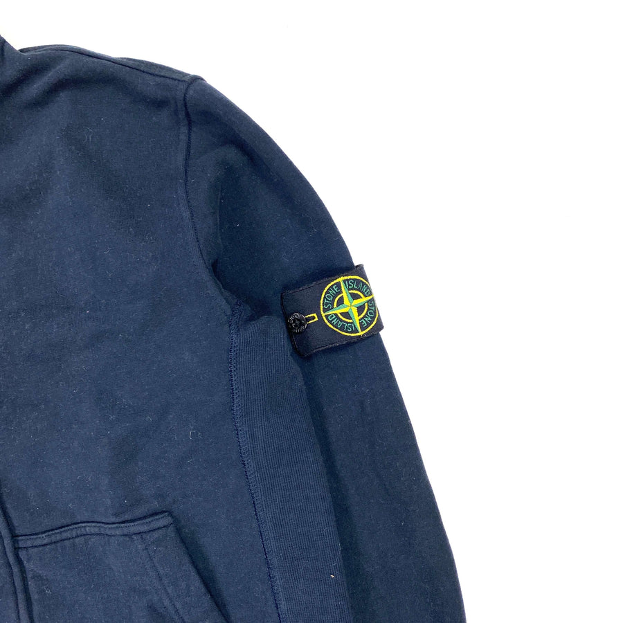 STONE ISLAND NAVY BUTTONED COTTON 2011 JUMPER