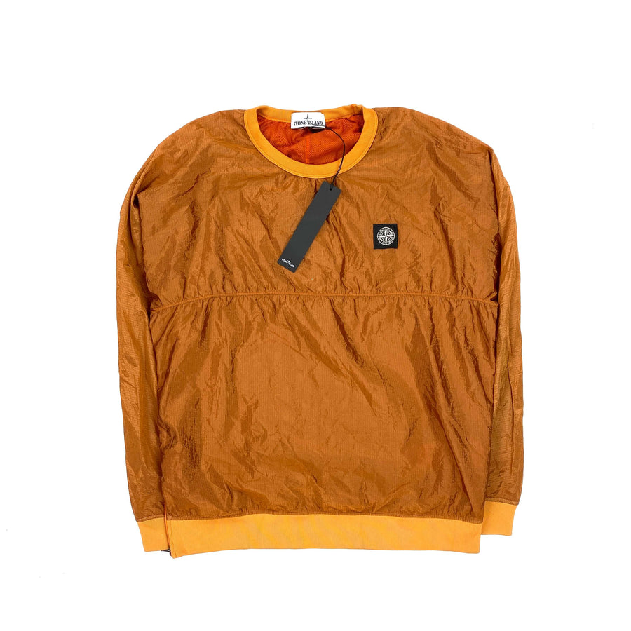STONE ISLAND ORANGE NYLON METAL PULLOVER