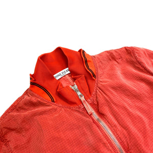 STONE ISLAND RED CARBON SILK BOMBER JACKET