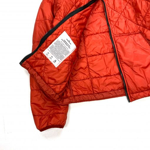 STONE ISLAND RED GARMENT DYED QUILTED MICRO YARN JACKET