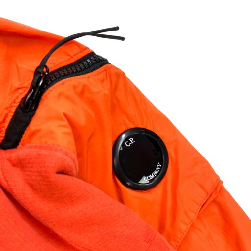 CP COMPANY ORANGE NYLON / COTTON LENS VIEWER SWEAT