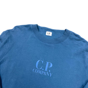 CP Company Blue Cotton Crewneck Sweatshirt