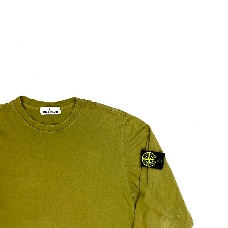 Stone Island Olive Green Longsleeve Cotton Top