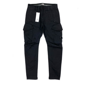 CP Company Black Ergonomic Fit Cargo Trousers