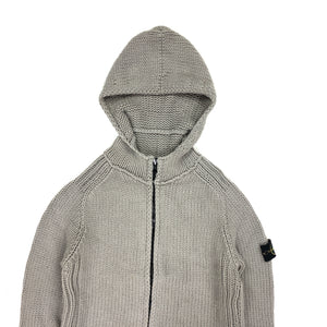 Stone Island 2001 Light Grey Grey Knitted Hoodie