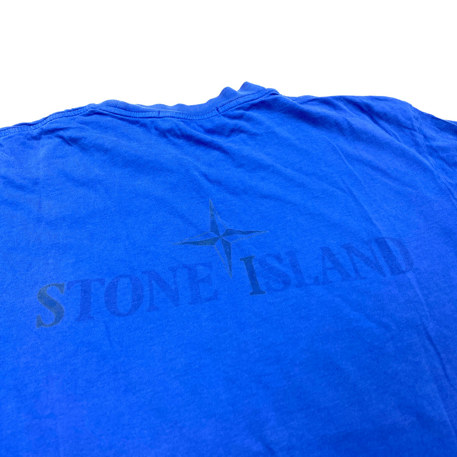 Stone Island Spellout Blue T Shirt