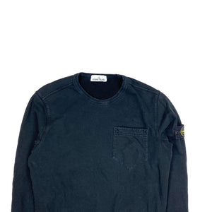 Stone Island Black Thick Cotton 2018 Crewneck Jumper