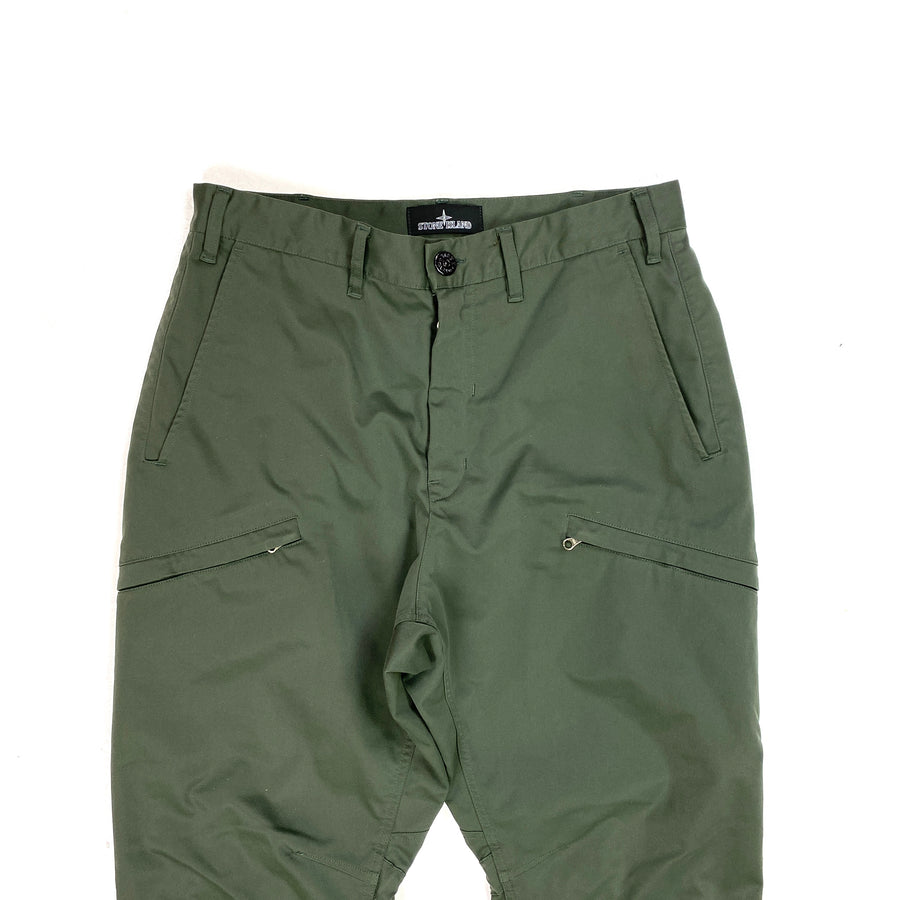 Stone Island Olive Shadow Project Cargo Trousers