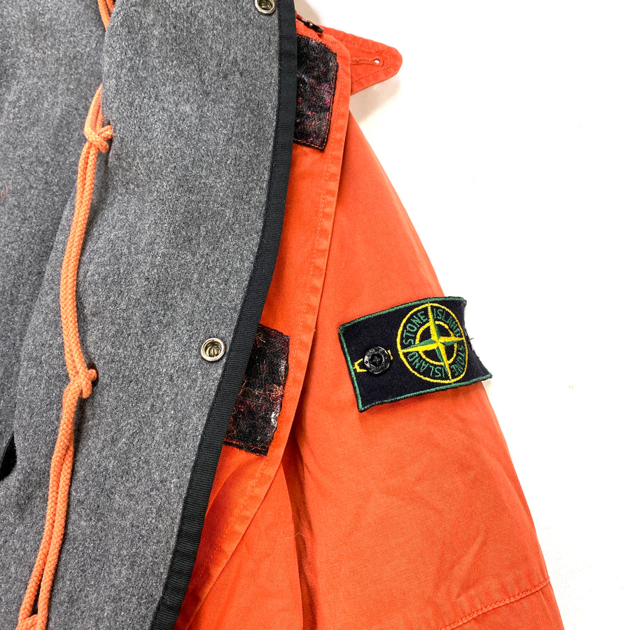 Stone Island Vintage AW/1996 Orange Dutch Rope Raso Jacket