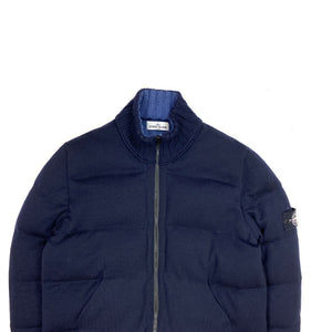 Stone Island Dark Blue Multi Knit Down Bag Jacket