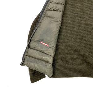 CP Company Khaki Down Filled Goggle Knitted Jacket