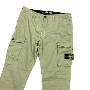 Stone Island Sage Green Slim Fit Cargo Trousers