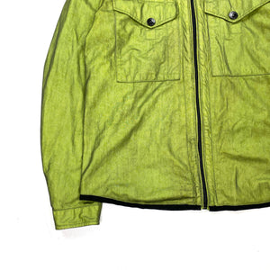 Stone Island 2009 Lime Green Tyveck Hooded Jacket