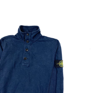 Stone Island Navy Cotton Pullover Jumper