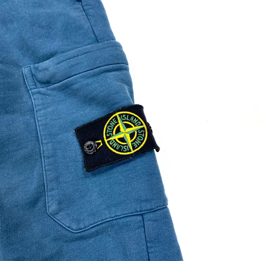 Stone Island Blue Cotton Tracksuit Bottoms