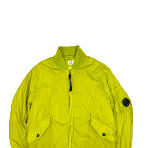 CP Company Line Green Quilted Nycra Bomber Jacket