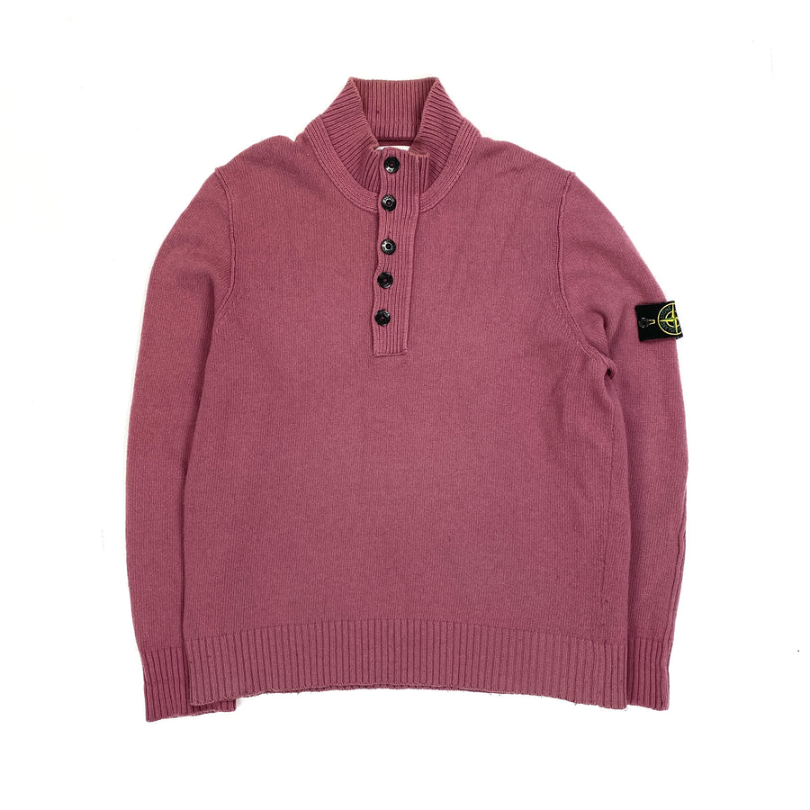 Stone Island Pink Knitted Pullover Jumper