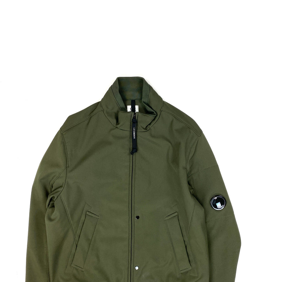 CP Company Khaki Fleece Lined Lens Viewer Bomber