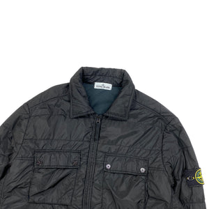 Stone Island Black Padded Nylon Overshirt Jacket