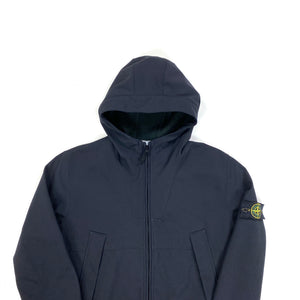Stone Island Black Fleece Lined Hooded Soft Shell R Jacket