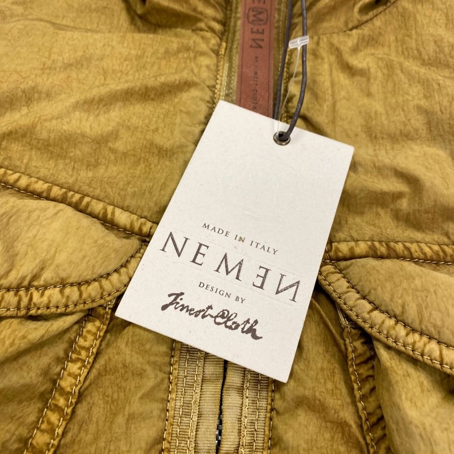 NEMEN GARMENT DYED PADDED HOODED JACKET