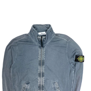 Stone Island Cadet Grey Garment Dyed Zipped Jumper