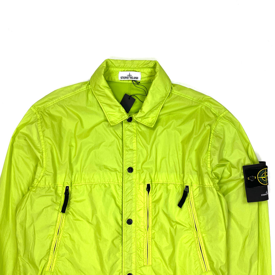 Stone Island Neon Green Garment Dyed Crinkle Reps Jacket