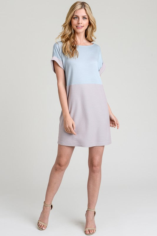 Two Tone Tshirt Dress