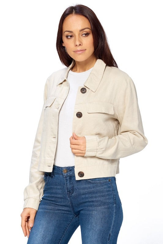 Safari Crop Jacket
