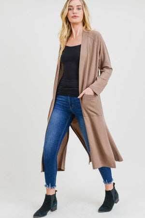 Brushed Knit Duster