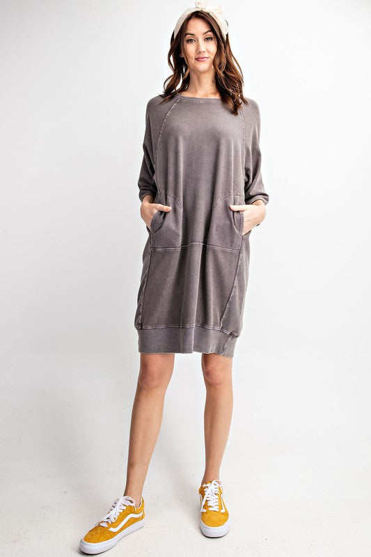 Terry Knit Sweater Dress