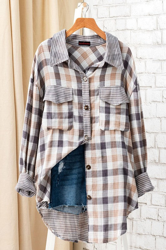 Spring Fling Oversized Plaid