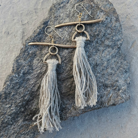 Inka earrings - 14K gold ear wires
