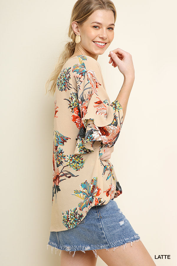Ruffled Summer Floral