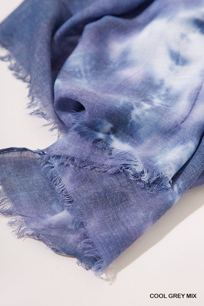 Tie Die Raw Edge Scarf (Three Colour Options)