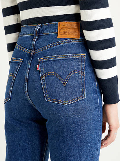 Levis Ribcage Bootcut Turn Up