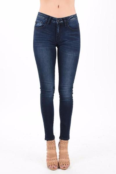 Kancan Mid High Rise Faded Navy