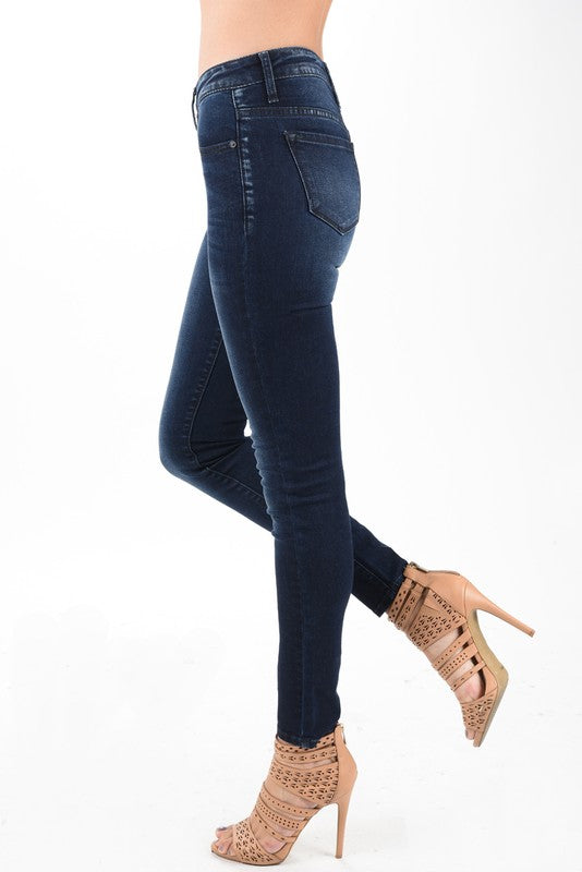 Mid High Rise Faded Navy-Kancan