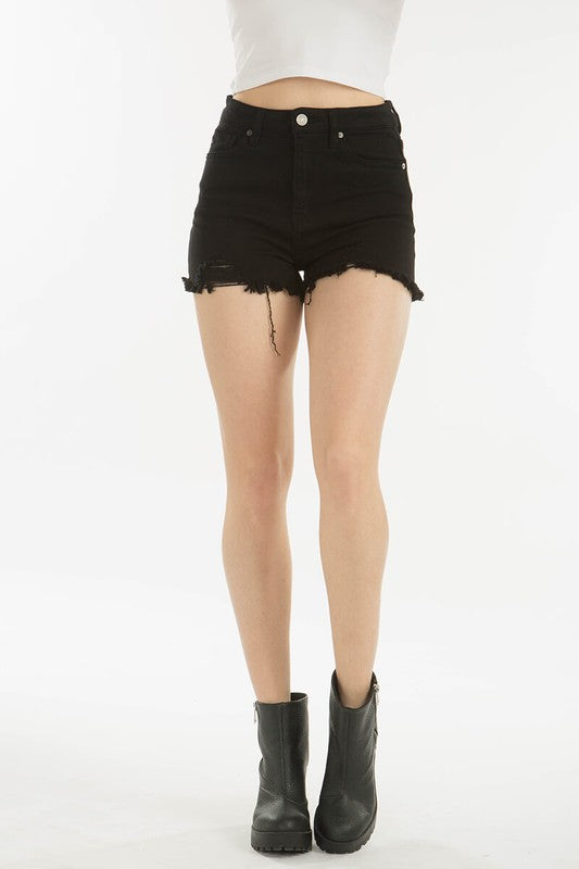 High Rise Black Cut-Offs